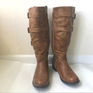NWOT 2 Lips too brown calf high boots